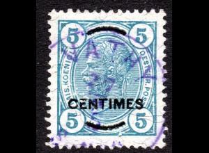 Österreich. Levante, Post Kreta 12, 5 C./5 H. m. klarem blauem K1 VATHY SAMOS