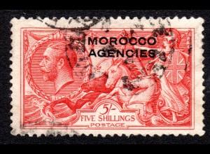 Marokko, Britisch Morocco Agencies Nr. 61, gest. 5 Sh. (Kat. 150 €)