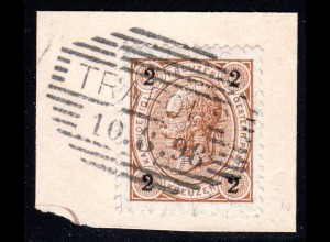 Österreich, Südtirol Schraffenstpl. TRAFOIL 2 (Hotel) auf Briefstück m. 2 Kr.