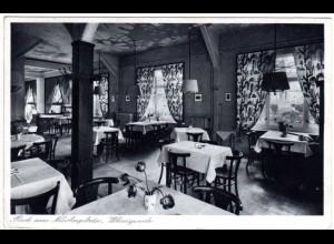 Wernigerode, Restaurant am Nicolaiplatz, 1936 gebr. sw-Foto-AK