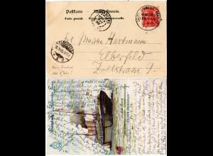 DR 1900, Deutsch-Amerikanische Seepost Hamburg New-York c auf Karte m. 10 Pf.