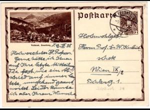 Österreich 1935, 12 Gr. Feldkirch Bildganzsache m. Stpl. FELDKIRCH!
