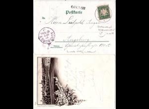 Bayern 1893, Stationsstpl. ICHENHAUSEN auf Weissenhorn AK m. Bahnpost KRMB-GZBG