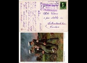 Bayern 1916, Posthilfstelle HÄFELISWALD Taxe Kreuzthal auf Rot Kreuz Farb-AK