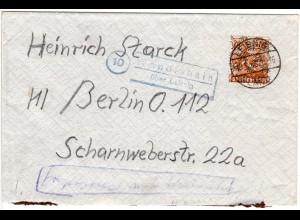 1948, Landpost Stpl. WENDISHAIN über Leisnig auf Brief m. 24 Pf.