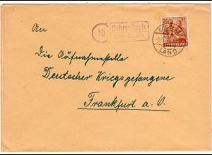 1948, Landpost Stpl. 10 SCHMALBACH über Döbeln auf Brief m. 24 Pf.