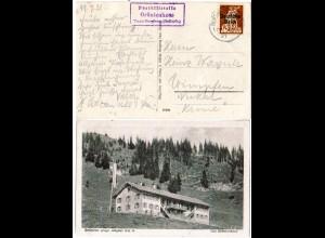 DR 1921, Posthilfstelle GRÜNTENHAUS Taxe Burgberg auf entspr. AK m. 40 Pf.