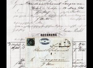 Bayern 1866, MR 224 IMMENSTADT auf Brief m. 6 Kr. v. Winkel b. Sonthofen