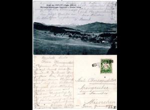 Bayern 1906, L2-Aushilfstempel WEILER BHF. auf Gruss aus... AK m. 5 Pf.