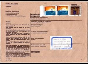 BRD 1980, Postsache Nachsendung Sammelumschlag v. Sasbach b. Achern n. Spanien