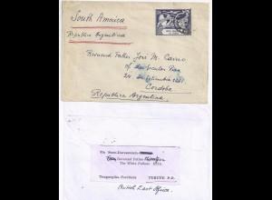 Kenya Uganda & Tanganyika, 1949 UPU Ausgabe 30 C. auf Brief n. Argentinien.#1805