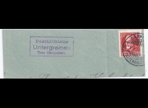 Bayern, Posthilfstelle Untergrainau Taxe Obergrainau, Brief Teil Garmisch. #415