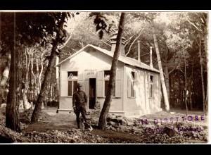 Italien, Campo Climatico Militare di Anzio 1919, sw-Ak m. Unterschrift Perilli