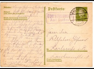 DR 1932, Landpost Stpl. OBERSCHEIDENTAL Amt Buchen auf 6 Pf. Ganzsache