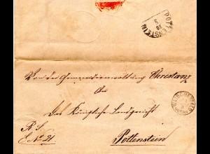 Bayern 1874, Zierstempel WAISCHENFELD klar auf Brief v. Christanz n. Pottenstein
