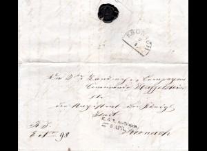 Bayern 1868, L2 K.G.E. Staffelstein auf schönem Brief n. Kronach.