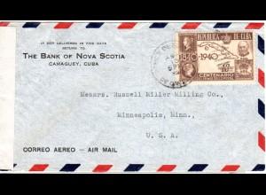 Marke auf Marke, 1840ö1940 Jubiläumsmarke m. u.a. Penny Black auf Zensur Brief