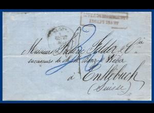 Algerien - Schweiz 1873, Porto Brief nach Entlebuch. #S15
