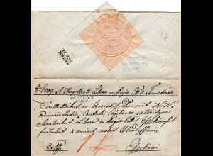 Österreich 1842, L2 TEMESVAR auf schön gesiegeltem Brief n. Esseg, Kroatien
