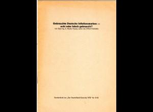E. Peschl, Deutsche Inflationsmarken, echt oder falsch gestempelt, 8 S., mit Abb