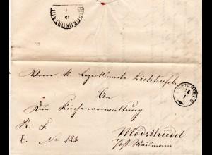 Bayern 1870, Zierstempel LICHTENFELS auf Brief n. Modschiedl