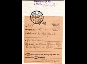 DR 1929, Post Protest-Auftrag m. Dt. PA Dresden Altst.1-Stpl.