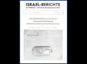 Israel -Berichte Dez.1981, Airgraph-Service #S20