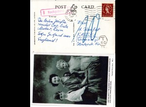 GB 1957, 2d on Royal Family postcard from London with german postage due