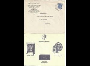 Belgien 1931, Elektro illustrierter Brief Umschlag v. Schaerbelk.