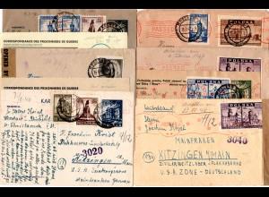 Polen 1946-47, 9 Zensur Briefe v. Wroclaw ins Zivilarbeitslager Kitzingen