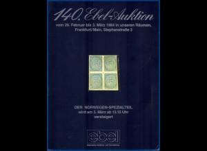 Norwegen, Per Fossum-Auktion 1984, kompl. Katalog mit Abbildungen. #S35