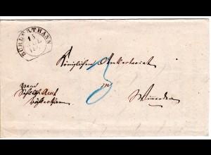 Württemberg 1870, Steigbügelstpl. BÜHLERTHANN auf Porto Brief nach Winnenden