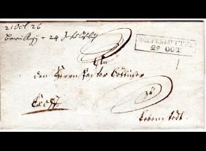 Braunschweig 1826, R2 WOLFENBÜTTEL auf Brief n. Lebenstedt.