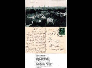 Bayern 1913, Reservestempel MÜHLDORF R auf sw-AK m. 5 Pf.