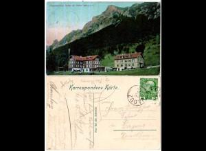Liechtenstein 1903, 5 H. Österreich m. K1 VADUZ auf Farb-AK Alpenkurhaus Gaflei
