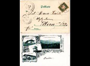 Bayern 1898, L2 Aushilfstempel BICHL auf Zwiesel-Alm sw-AK m. 5 Pf.