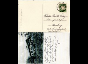 Bayern 1908, Reservestempel TEGERNSEE R auf sw-AK m. 5 Pf.