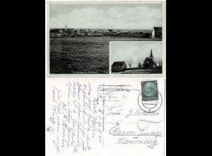 DR 1940, Landpost Stpl. LAMBERTSBERG über Prüm auf sw-AK m. 6 Pf.