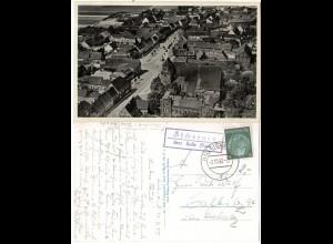 DR 1937, Landpost Stpl. ZSCHERNITZ über Halle auf sw-AK m. 6 Pf.