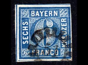 Bayern, MR 51 BOBINGEN klar auf voll-/breitrandiger 6 Kr.