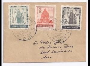 Portugiesisch Indien, Portuguese India , MAPUCA Orts Brief m. 3 Marken. #1100