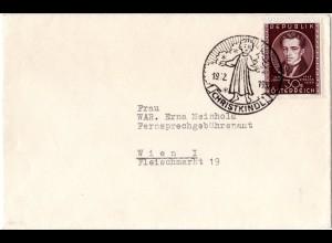 Österreich Christkindl 1952, Brief m. 30 Gr. u. klarem Sonderstempel