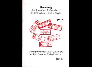 ARGE R+V-Zettel, Bewertung der dt. R-Zettel u. Einschreibebriefe (bis 1945)