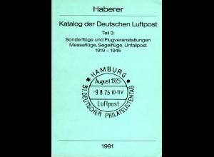 Haberer, Katalog der Deutschen Luftpost, Sonderflüge, Segelflüge etc. 1919-1945