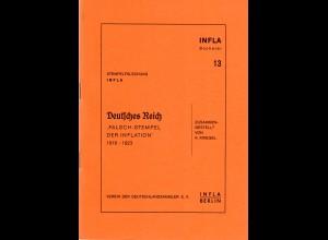 Kriegel, K., Falsch-Stempel der Inflation 1919-1923, Infla Bücherei, 55 S.