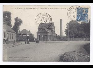 Frankreich 1929, Mazingarbe, Distillerie, gebr. sw-AK. #496