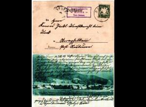 Bayern 1901, Posthilfstelle ROTTAU Taxe Bernau auf AK m. 5 Pf