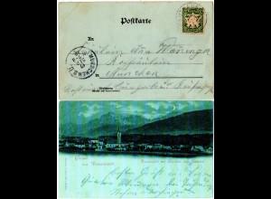 Bayern 1898, K1 MAUTHAUSEN (Helbig 150) auf Gruss aus Teisendorf AK m. 5 Pf.
