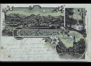 Kaufbeuren 1898, Farb Litho AK gebr. m. 5 Pf.. #591