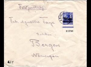Dt. Besetzung Belgien 1915, 25 C. auf Feldpost Auslands Brief n. Norwegen.
